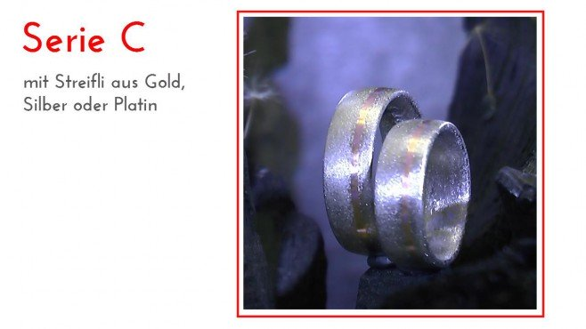 Kristallmetall: Eheringe für die Hochzeit