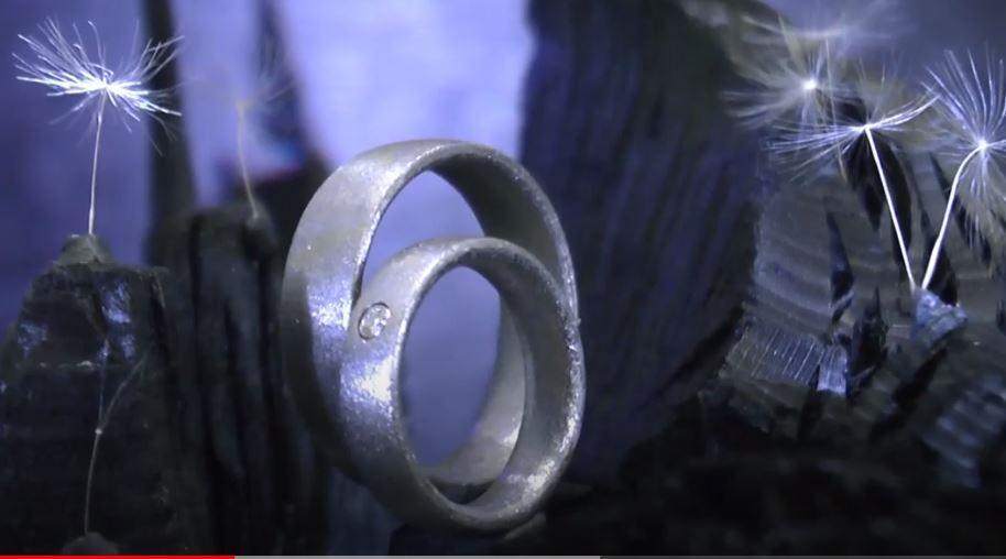 Diamant-Eheringe aus Schweizer Kristallmetall